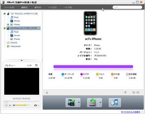 iPod 同期、iPod 転送